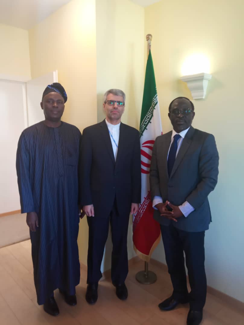 Courtesy Visit by the Charge d'Affaire a.i. and Prof. Adebambo Adewopo