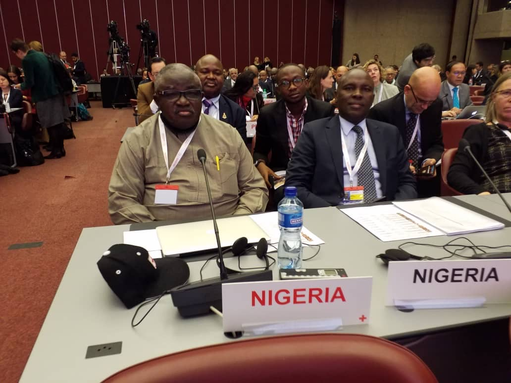 Nigerian Delegation to the 33rd Conference of the International Red Cross & Red Crescent, 8 December 2019