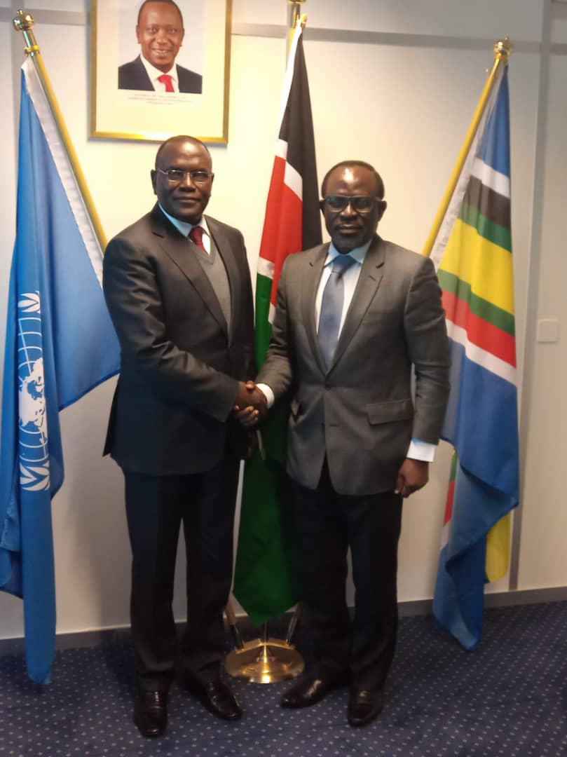 Courtesy Visit by Prof. Adebambo Adewopo, Nigerian candidate as the D.G. WIPO to the Kenyan Ambassador to the United Nations, Geneva.